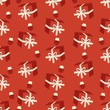 Gift box seamless pattern Royalty Free Stock Images