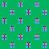 Gift box seamless pattern. Background with present to christmas and birthday, new year, vector illustration Stock Photos