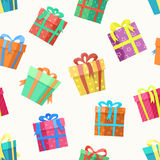Gift box seamless pattern vector illustration