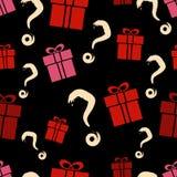 Gift box seamless pattern Stock Photography