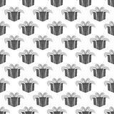 Gift box seamless pattern. On white background. Holiday design vector illustration Stock Photography