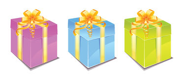 Gift box set. Illustration Royalty Free Stock Images