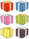 Gift box set. Isolated on white background Royalty Free Stock Photography