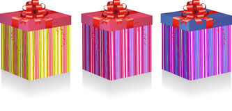 Gift box set Royalty Free Stock Photography