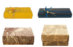 Gift box. Set. Gift box, closed, set. Isolated on white background Stock Images