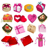 Gift box set. Colorful and beautiful gift box Royalty Free Stock Photography