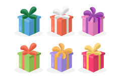 Gift box set. Colorful presents for holidays Royalty Free Stock Photography