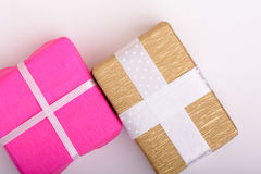 Gift box set, holiday concept Royalty Free Stock Photography