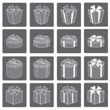 Gift box  set. Stock Photo