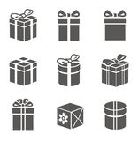 Gift box set. On white vector Stock Images