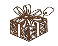 Gift Box Shape Cookies Chocolate Textures Royalty Free Stock Images