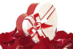Gift box in shape heart Royalty Free Stock Images