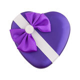Gift box shape heart with a bow Royalty Free Stock Image