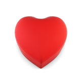 Gift box in the shape of a heart isolated on white background. 3. Red gift box in heart shape isolated on white background. 3d renering Stock Image