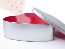 Gift-box in the shape of a heart. Valentine's Day Royalty Free Stock Images