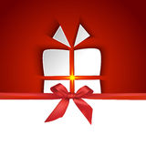 Gift box shape with shadow effect Royalty Free Stock Photography