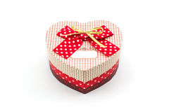 Gift box shaped heart. Royalty Free Stock Images