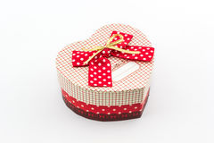 Gift box shaped heart. Stock Photos