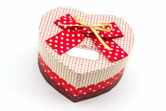 Gift box shaped heart. Stock Image