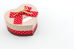 Gift box shaped heart. Royalty Free Stock Photo