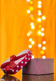 Gift box shaped heart Royalty Free Stock Photo