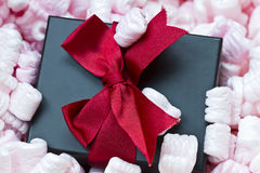 Gift box in shipping package Stock Photography