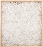 Gift box with shredded paper Royalty Free Stock Images