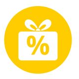 Gift box sign discount icon, Present symbol Royalty Free Stock Photography