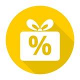 Gift box sign discount icon, Present symbol Stock Image