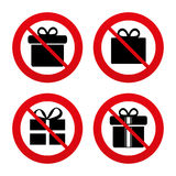 Gift box sign icon. Present symbol Stock Images
