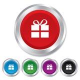 Gift box sign icon. Present symbol. Stock Photo