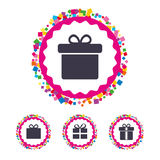 Gift box sign icon. Present symbol. Royalty Free Stock Photography