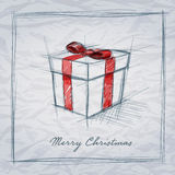 Gift Box Sketch Royalty Free Stock Photography