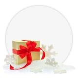 Gift box on snow Stock Photo
