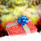 Gift box on a snow Stock Photo