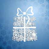 Gift box of snowflakes Royalty Free Stock Photography