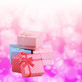 Gift box with soft background Royalty Free Stock Image