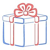 Gift box square, pictogram Royalty Free Stock Photos