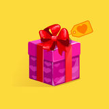 Gift box St. Valentine's Day. Gift box icons St. Valentine's Day Royalty Free Stock Photography