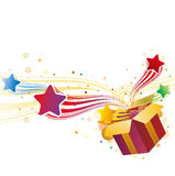 gift box and star Stock Images