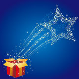 gift box and star Royalty Free Stock Photo