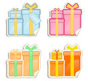 Gift Box stickers Stock Photo