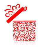 Gift box stylized for your design Royalty Free Stock Image