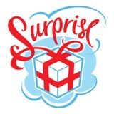 Gift box surpris royalty free illustration