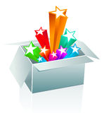 Gift box surprise - entertainment Royalty Free Stock Image