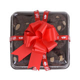 Gift box of sweet brownie. Stock Images