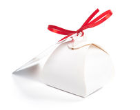 Gift box for sweets. On a white background royalty free stock photo