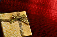 Gift box on table close-up Stock Photo
