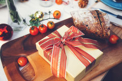 Gift box on table Stock Image
