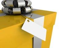 Gift box tag Royalty Free Stock Images